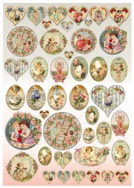 Decoupage-paperi 50x70cm, Stamperia - Decoupage-paperit 50x70cm, Stamperia - DFG425 - 1