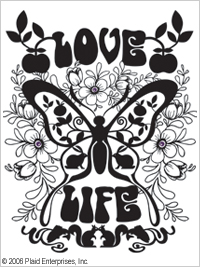 Simply Screen- seula Love Life Butterfly - Simply Screen- kangasmaali - 98549 - 1